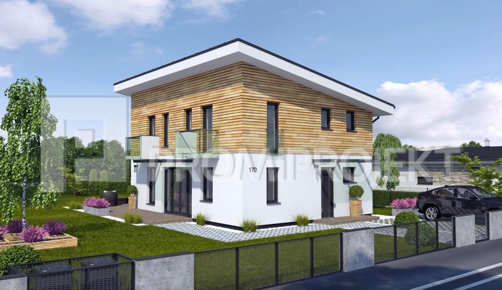 Projekty Poschodových Domov S Rovnou Strechou Promiprojekt